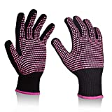 Heat Resistant Gloves with Silicone Bumps,Sopito 2Pcs Professional Heat Proof Glove Mitts for Hair...